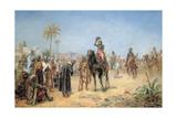 Napoleon Arriving at an Egyptian Oasis Giclée-Druck von Robert Alexander Hillingford