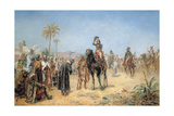 Napoleon Arriving at an Egyptian Oasis Giclee Print by Robert Alexander Hillingford