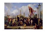 The Triumph of Pisani, 1847 Giclee Print by Alexandre-Jean-Baptiste Hesse