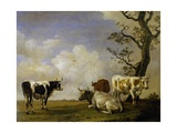 Four Bulls Giclee Print by Paulus Potter
