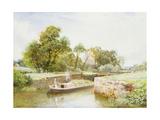 Stratford Lock Giclee Print by Arthur Claude Strachan