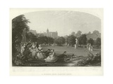 A Summer Noon: Hampton Court Giclee Print by James Digman Wingfield