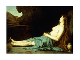 Madeleine in the Desert, C.1874 Giclee Print by Jean-Jacques Henner