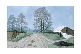 A Somerset Lane, 1967 Giclee Print by Tristram Paul Hillier