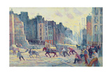 Work in the Rue Reaumur, 1906-08 Giclee Print by Maximilien Luce
