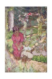 Woman with Child in a Garden, 1918 Giclée-Druck von Edouard Vuillard