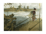 The Gale; Le Coup De Vent Giclee Print by Georges de Feure