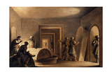 Figures in Egyptian Tombs Giclee Print by Luigi Mayer