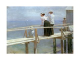 On the Bridge, 1898 Giclee Print by Peter Alexandrovich Nilus