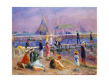 Town Pier - Blue Point, Long Island Giclee Print by William James Glackens