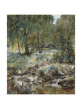 When the Leaves Begin to Turn, 1856 Giclee Print by Alfred William Hunt