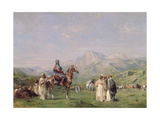 An Encampment in the Atlas Mountains, C.1865 Giclee Print by Eugene Fromentin