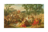Study for Rape of the Sabines Giclee Print by Gabriel Francois Doyen