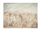 Windsor Castle from Eton Town, 1800 Giclee Print by Thomas Rowlandson