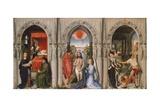 Triptych of Baptist Giclée-Druck von Rogier van der Weyden