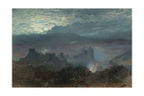 Castle with an Estuary Beyond, 1856 Giclee Print by Alfred William Hunt