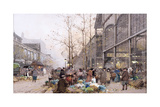 Les Halles and St. Eustache Giclee Print by Eugene Galien-Laloue