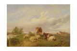 On Canterbury Meadows, 1861 Giclee Print by Thomas Sidney Cooper