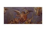 Angels, Fresco Giclée-tryk af Ludovico Carracci