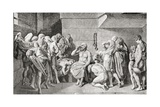 Death of Socrates by Drinking Poison Giclee Print by  English School