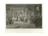 Crowning of the Emperor Charlemagne Giclee Print by Alonzo Chappel