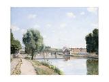The Railway Bridge, Pontoise, C.1873 Reproduction procédé giclée par Camille Pissarro
