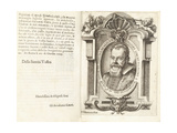 Portrait of Galileo Galilei, 1623 Giclee Print by Francesco Villamena