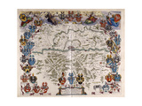 Map of Germany, C.1644-1645 Giclee Print by Willem And Joan Blaeu