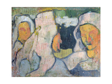 Three Breton Women in Widow's Bonnets Giclee Print by Emile Bernard
