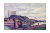 The Slag Heaps of Sacre Madame, 1897 Giclee Print by Maximilien Luce