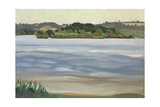 Denny Island, Chew Valley Lake Giclee Print by Anna Teasdale