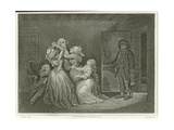 Louis XVI and His Family Giclee Print by Denis Auguste Marie Raffet