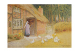The Goose Girl Giclee Print by Arthur Claude Strachan