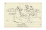 Ulysses Terrefied by the Ghosts Giclee Print by John Flaxman