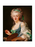 Portrait of Anne Vallayer-Coster, 1783 Giclee Print by Alexander Roslin