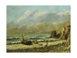 Two Boats on the Beach Giclee Print by Gustave Courbet