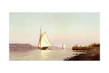 October on the Hudson Giclee Print by Francis Augustus Silva