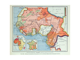 Map Showing French Colonies in Africa, 1938 Giclee Print