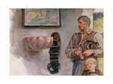 The Offertory Giclée-Druck von Hubert von Herkomer