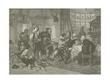 Shakespeare Arrested for Deer Stealing Giclee Print by Julius Friedrich Anton Schrader