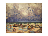 Children on the Beach, C.1910 Giclee Print by William Samuel Horton