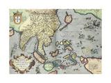 India, 1592 Giclee Print by Abraham Ortelius