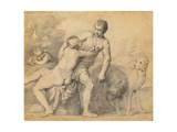 Venus and Adonis, 1631 Giclee Print by Peter Oliver