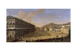 Palace Square in Naples Giclee Print by Gaspar van Wittel