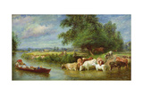 A Midsummer's Day on the Thames Giclee Print by Basil Bradley