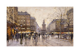 An Autumn Evening in Paris Giclee Print by Eugene Galien-Laloue