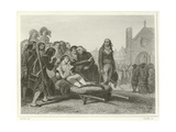 The Death of Bonchamp Giclee Print by Denis Auguste Marie Raffet