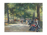 Elegant Figures, Rotten Row, Hyde Park, London Giclee Print by Count Girolamo Pieri Nerli