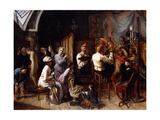 The Artist's Studio Giclee Print by Francois Auguste Biard