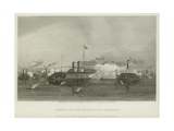 Action of the Gunboats at Memphis, 1862 Giclee Print by Alonzo Chappel